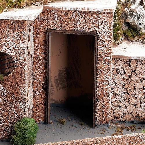 Grotta presepe borgo, fontana e scaletta 60X40X50 3