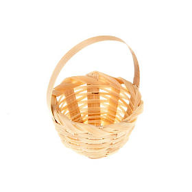 Nativity set accessory, wicker basket s1