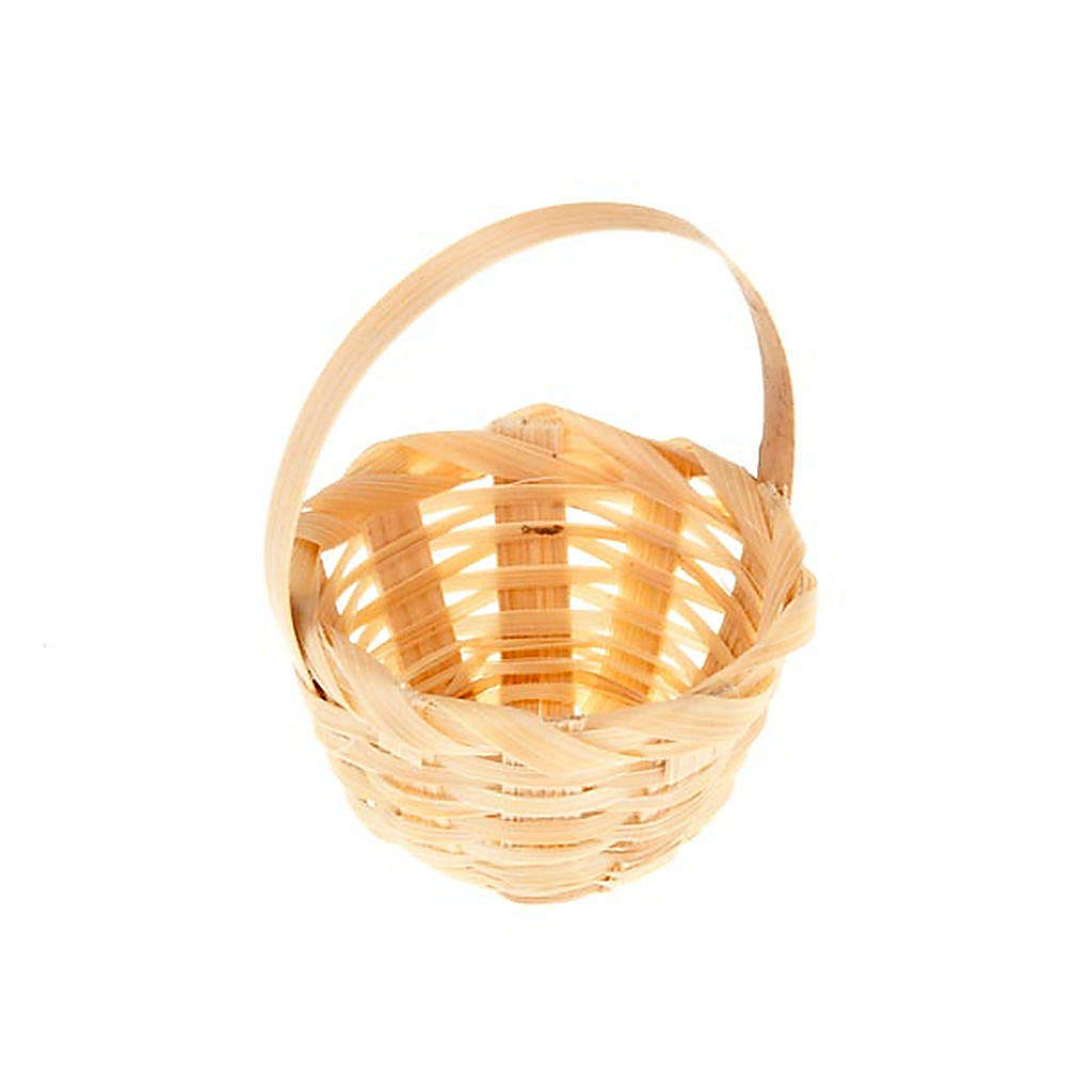 Nativity set accessory, wicker basket 4