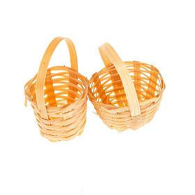 Nativity set accessory, set of 2 wicker baskets s1