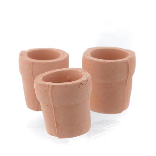 Vase aus Tonerde fuer Krippe 3 Stuecke 1
