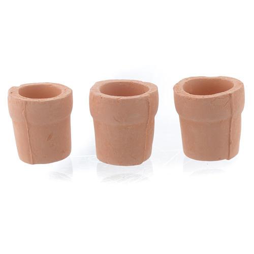Vase aus Tonerde fuer Krippe 3 Stuecke 2