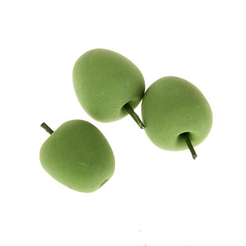 Nativity set accessory, set of 3 green apples 1