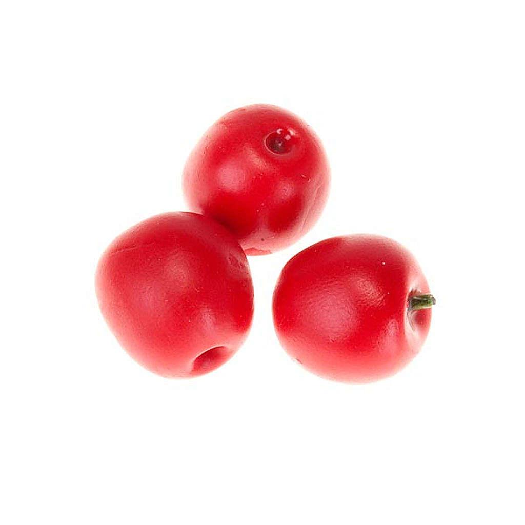 Manzanas rojas para pesebre conjunto 3 piezas 4