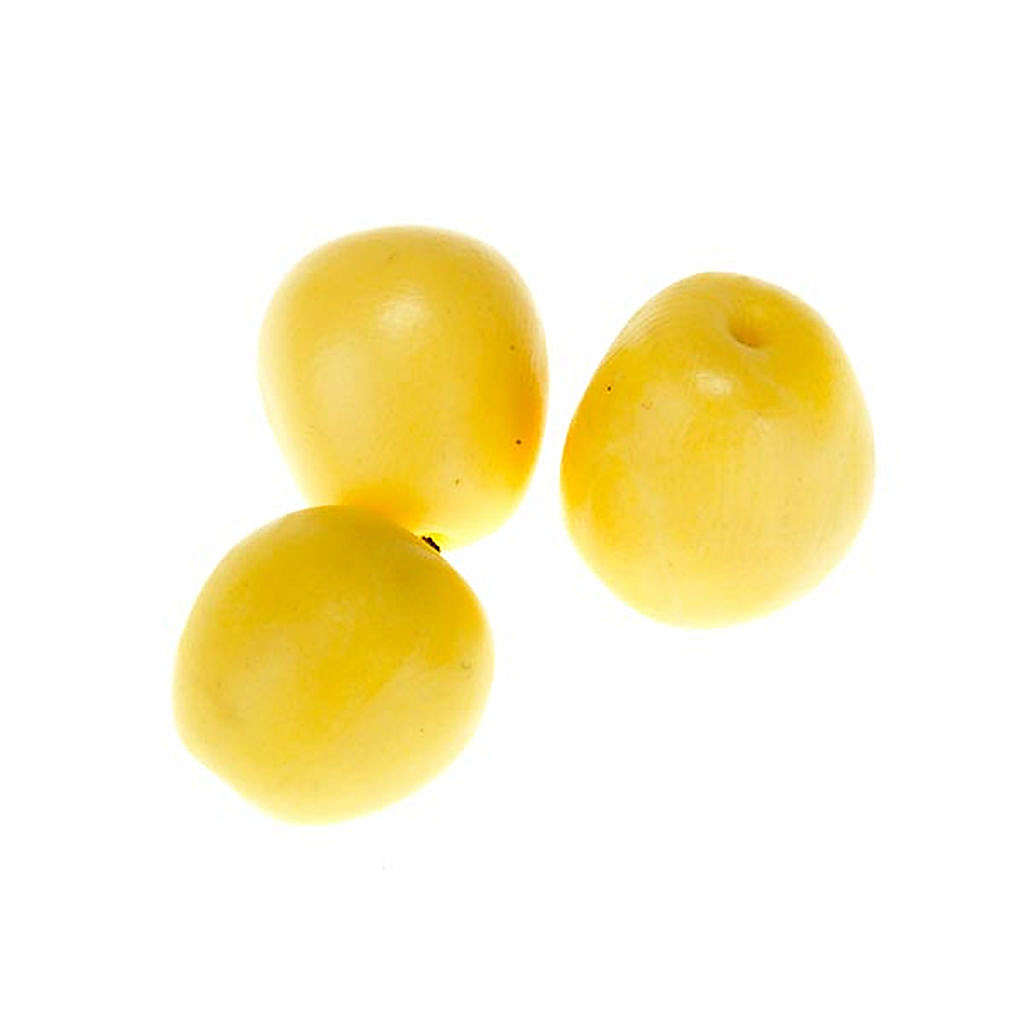 Manzanas amarillas para pesebre conjunto 3 piezas 4