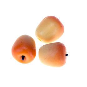 Manzanas naranjas para pesebre conjunto 3 piezas s1