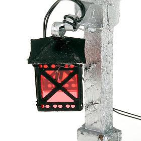 Lampione led per presepe 14 cm s3