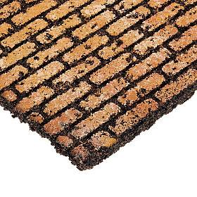 Pannello in sughero mattoncini presepe fai da te s2