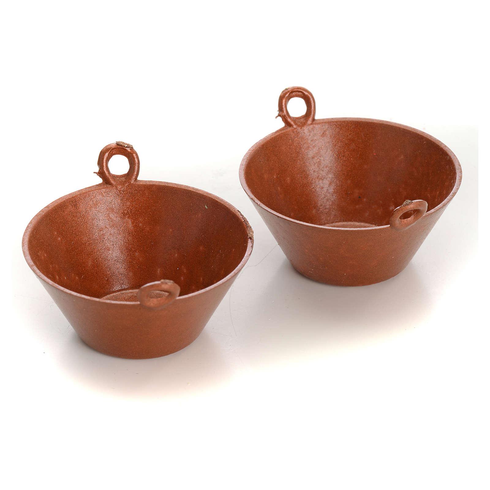 Kochtopfe Kupfer-farbig Krippe 2 Stücke 4
