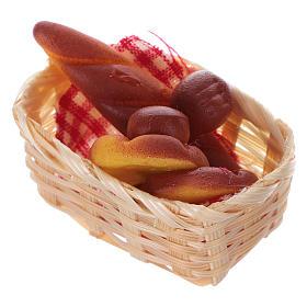 nativity set accessory, wicker basket with bread s2