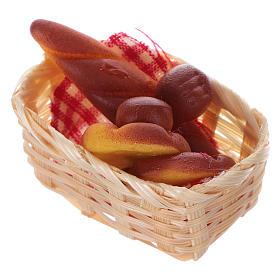 nativity set accessory, wicker basket with bread s2