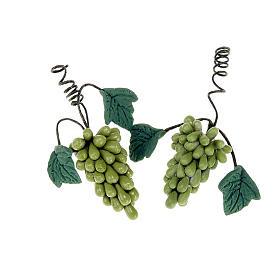 Aliments en miniature: 2 Grappes de raisin blanc, bricolage pour crèche