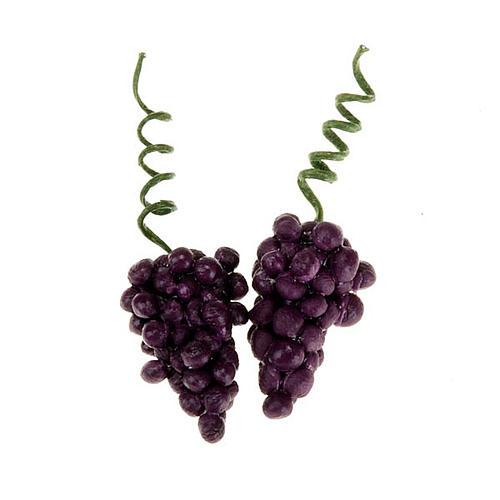 Grappoli d'uva rossa presepe fai da te 2 pz. 1