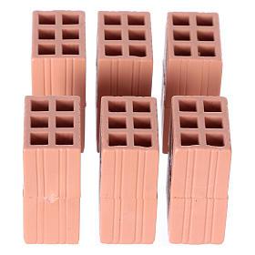 Acessórios de Casa para Presépio: Tijolos em terracota para presépio conjunto 5 peças