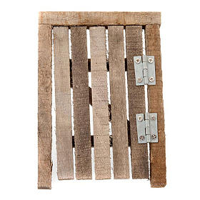 Porta in legno con stipite e cardini per presepe s2