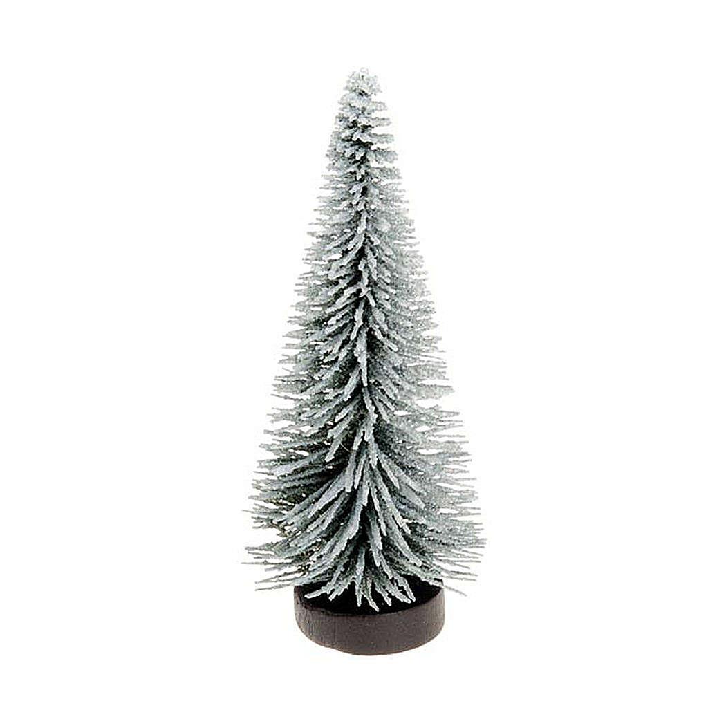Nativity set accessory, snow-covered pine tree 4