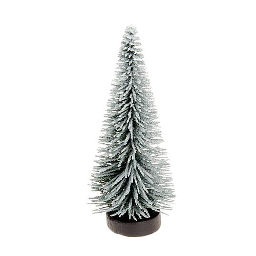 Nativity set accessory, snow-covered pine tree 1