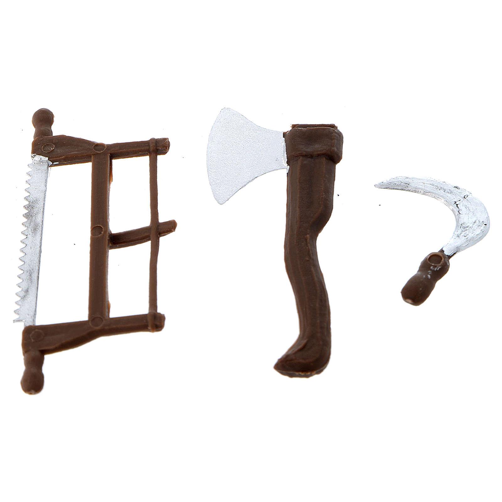 Nativity set accessory, farmer tools 4