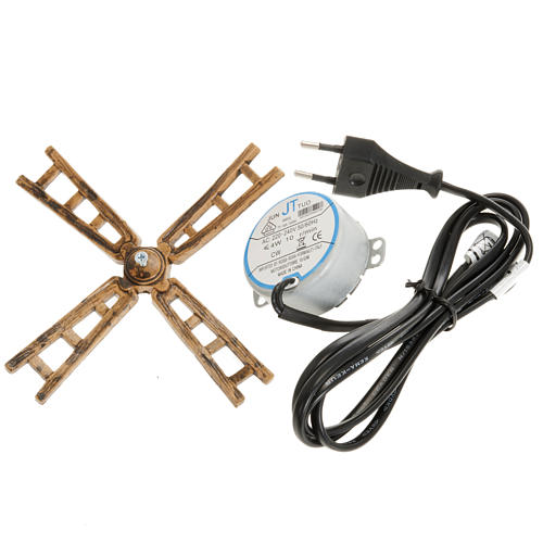 Nativity scene motorized windmill 3W: engine and sails 1