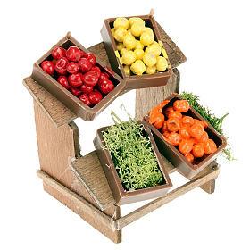 Stoisko do szopki 4 skrzynki owoców miniatura s1