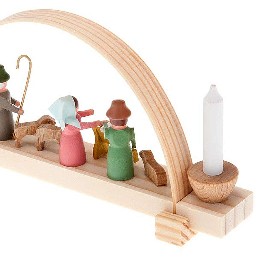 Mini presepe legno fatto a mano archetto 4