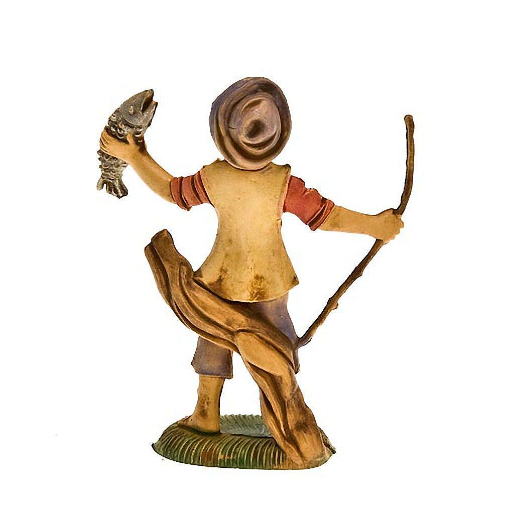 Pescatore con pesce 8 cm 3