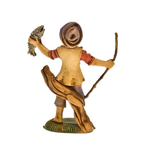 Pescatore con pesce 8 cm 2