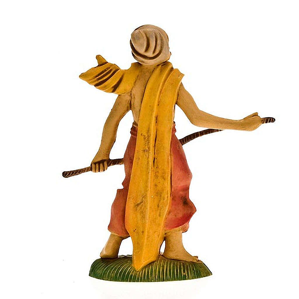 Pastore con bastone e turbante 8 cm 3
