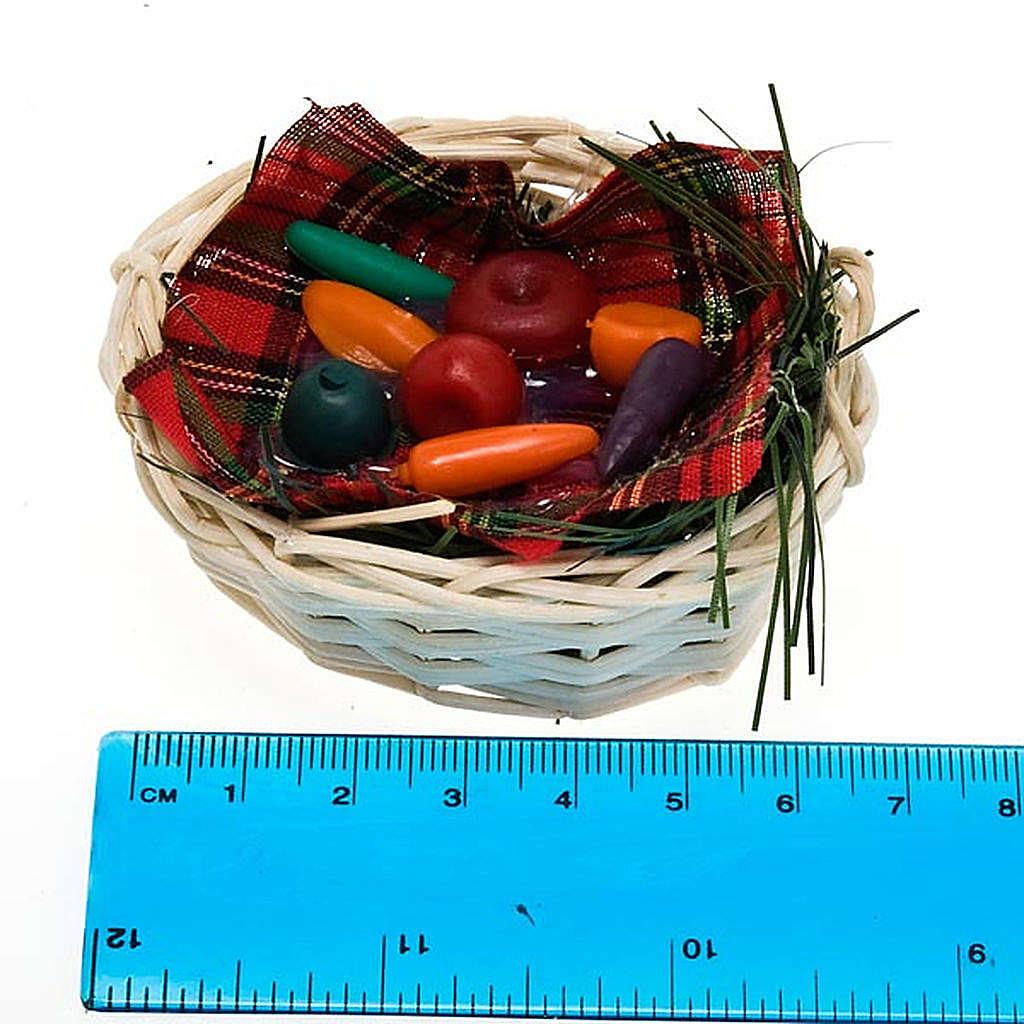 Cesto di verdura con tovaglietta presepe fai da te 4