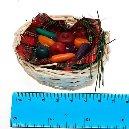 Cesto di verdura con tovaglietta presepe fai da te 2