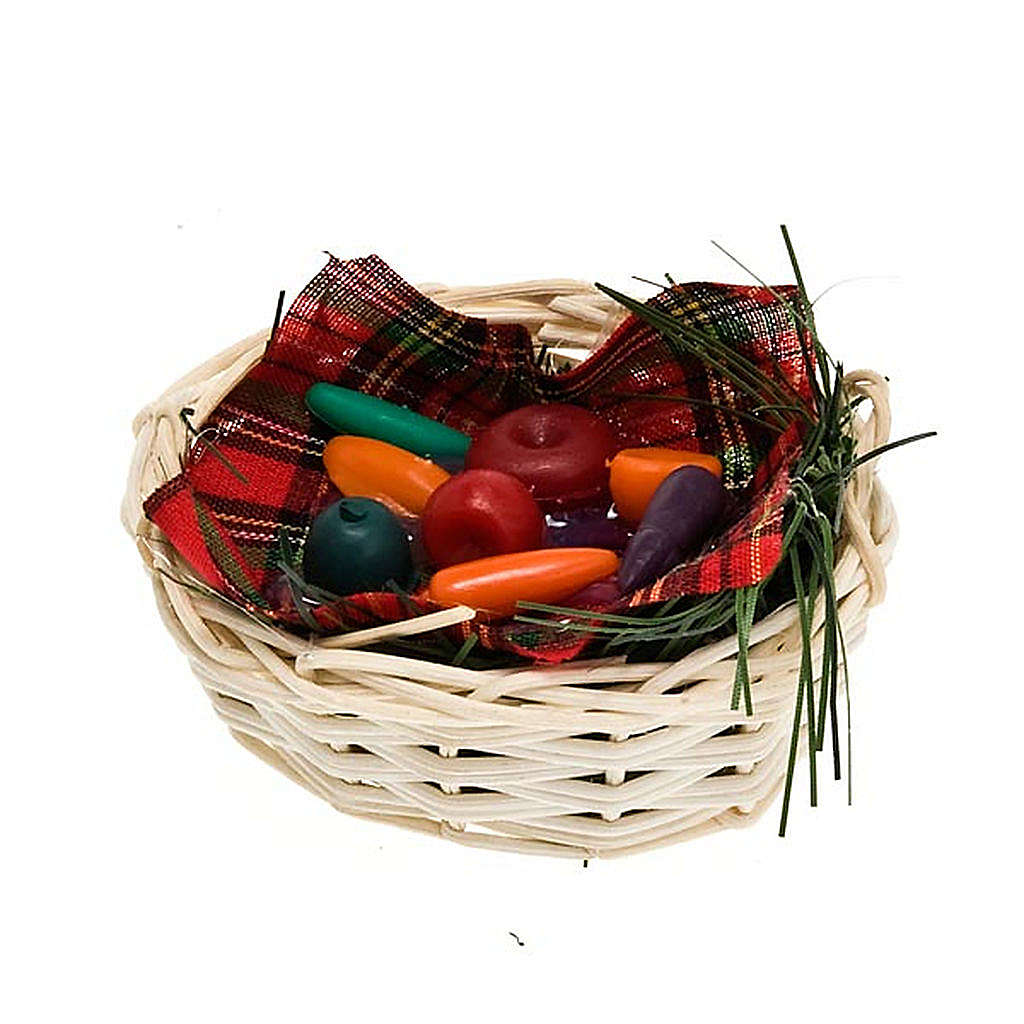 Nativity set accessory, vegetable basket 4