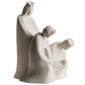 Crèche Noël Adoration 32.5 argile réfractaire s9