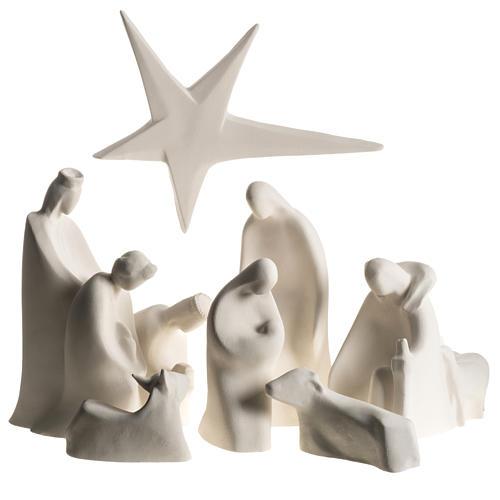 Presépio Adoração 32,5 cm argila refractária 2