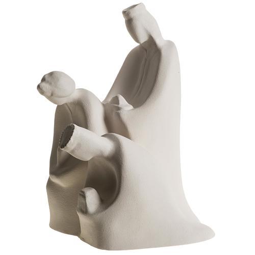 Presépio Adoração 32,5 cm argila refractária 8