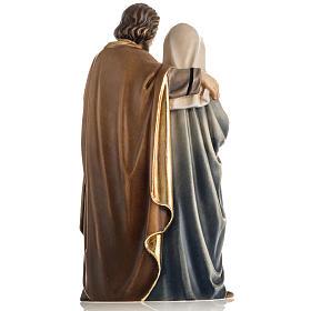 Sacra Famiglia in piedi legno dipinto Val Gardena s12