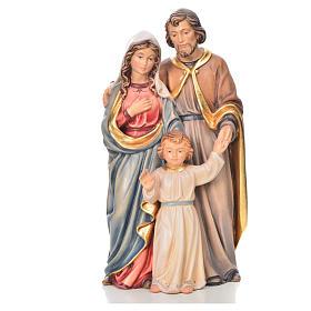 Sacra Famiglia in piedi legno dipinto Val Gardena s13