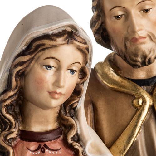 Sacra Famiglia in piedi legno dipinto Val Gardena 5