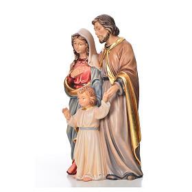 Sagrada Família em pé madeira pintada Val Gardena s6