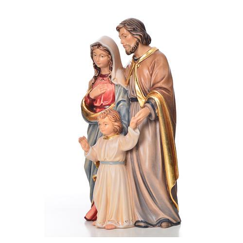 Sagrada Família em pé madeira pintada Val Gardena 6