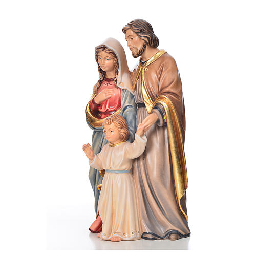 Sagrada Família em pé madeira pintada Val Gardena 2