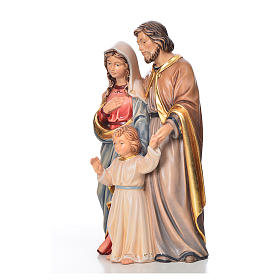 Nativity set, Holy family, painted wood, Val Gardena s2