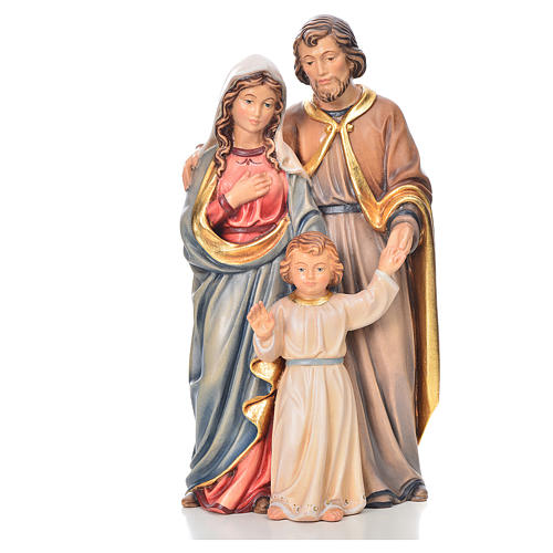 Nativity set, Holy family, painted wood, Val Gardena 1