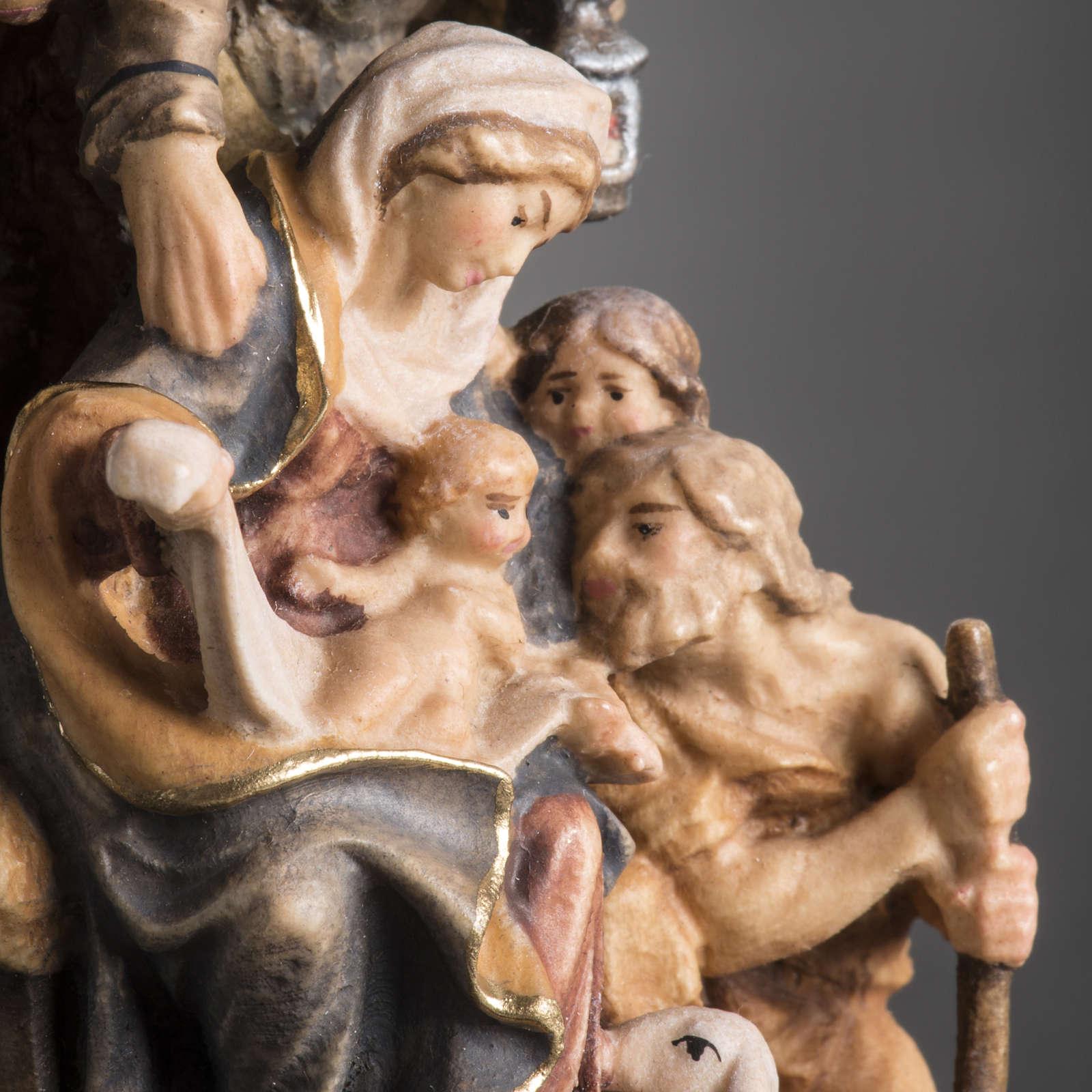 Presepe legno dipinto Val Gardena mod. Bachtaler 4