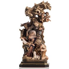 Presepe legno dipinto Val Gardena mod. Bachtaler s1