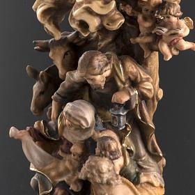 Presepe legno dipinto Val Gardena mod. Bachtaler s3