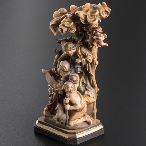 Presepe legno dipinto Val Gardena mod. Bachtaler 7