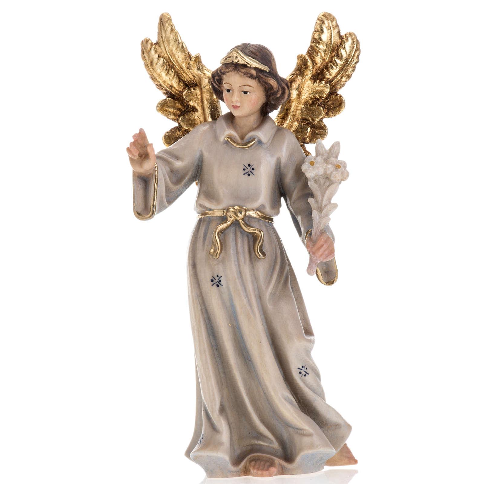 Annonciation de l'Ange Gabriel à Marie bois peint 4
