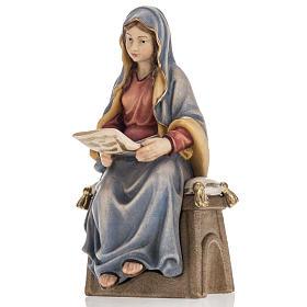 Annonciation de l'Ange Gabriel à Marie bois peint s2