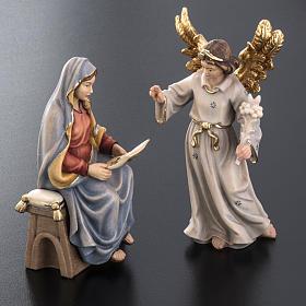 Annonciation de l'Ange Gabriel à Marie bois peint s4