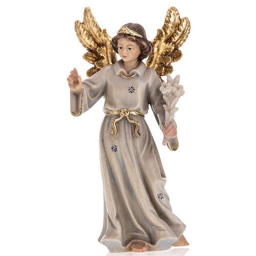 Annonciation de l'Ange Gabriel à Marie bois peint 3